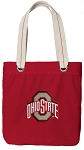 Ohio State Tote Bag RICH COTTON CANVAS Red