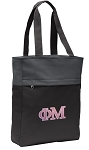 Phi Mu Tote Bag Everyday Carryall Black