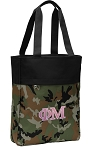 Phi Mu Tote Bag Everyday Carryall Camo