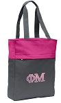 Phi Mu Tote Bag Everyday Carryall Pink