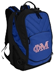 Phi Mu Deluxe Computer Backpack Blue