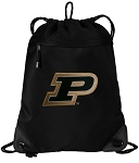 Purdue University Drawstring Backpack-MESH & MICROFIBER