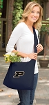 Purdue University Tote Bag Sling Style Navy