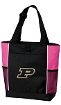 Purdue University Neon Pink Tote Bag