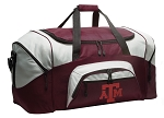 Large Texas A&M Duffle Bag Maroon