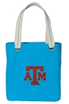 Texas A&M Tote Bag RICH COTTON CANVAS Turquoise