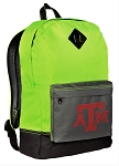 Texas A&M Backpack HI VISIBILITY Green Texas A&M Aggies CLASSIC STYLE