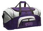 LARGE Texas Christian University Duffle Bags & Gym Bags
