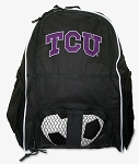 Texas Christian University Soccer Backpack or TCU Volleyball Bag For Boys or Girls