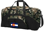 Colorado Flag Camo Duffel Bags