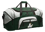 Large Cute Cat Duffle Bag Green