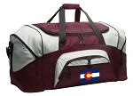 Large Colorado Flag Duffle Bag Maroon