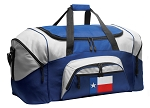 Texas Duffle Bag or Texas Flag Gym Bags Blue
