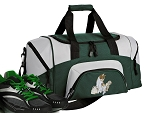 SMALL Cute Cat Gym Bag Kitten Duffle Green