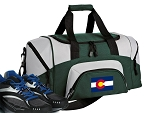 SMALL Colorado Flag Gym Bag Colorado Duffle Green