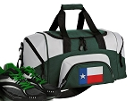 SMALL Texas Gym Bag Texas Flag Duffle Green