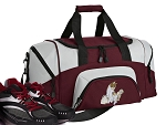 SMALL Cute Cat Gym Bag Kitten Duffle Maroon