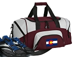 SMALL Colorado Flag Gym Bag Colorado Duffle Maroon