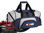 SMALL Colorado Flag Gym Bag Colorado Duffle Navy