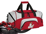 SMALL Cute Cat Gym Bag Kitten Duffle Red