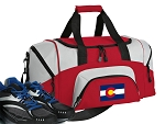SMALL Colorado Flag Gym Bag Colorado Duffle Red