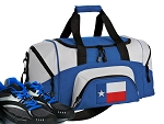 SMALL Texas Gym Bag Texas Flag Duffle Blue