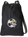Soccer Fan Cotton Drawstring Bag Backpacks