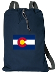 Colorado Cotton Drawstring Bag Backpacks RICH NAVY