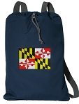 Maryland Cotton Drawstring Bag Backpacks RICH NAVY