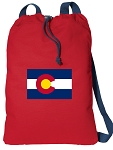 Colorado Cotton Drawstring Bag Backpacks COOL RED