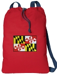 Maryland Cotton Drawstring Bag Backpacks COOL RED