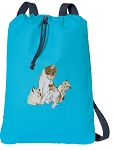 Cute Cats Cotton Drawstring Bag Backpacks COOL BLUE