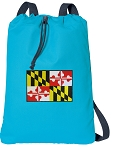 Maryland Cotton Drawstring Bag Backpacks COOL BLUE