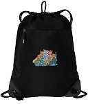 Crazy Cat Drawstring Backpack-MESH & MICROFIBER