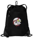 Baseball Drawstring Backpack-MESH & MICROFIBER