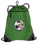 Soccer Fan Drawstring Backpack Mesh and Microfiber