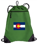 Colorado Drawstring Backpack Mesh and Microfiber