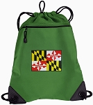 Maryland Drawstring Backpack Mesh and Microfiber