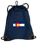 Colorado Drawstring Backpack-MESH & MICROFIBER Navy