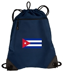 Cuba Drawstring Backpack-MESH & MICROFIBER Navy