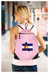 Colorado Drawstring Bag Mesh and Microfiber Pink