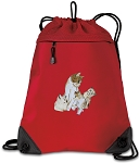 Cute Cats Drawstring Backpack MESH & MICROFIBER Red