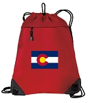 Colorado Drawstring Backpack MESH & MICROFIBER Red