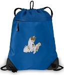 Cute Cats Drawstring Backpack MESH & MICROFIBER Blue