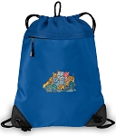 Crazy Cat Drawstring Backpack MESH & MICROFIBER Blue