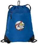 Baseball Drawstring Backpack MESH & MICROFIBER Blue