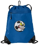 Soccer Fan Drawstring Backpack MESH & MICROFIBER Blue