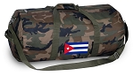 Cuba Duffle Bag Cuban Flag CAMO Luggage