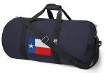 Texas Flag Blue Duffel Bags