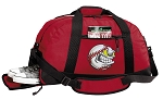 Baseball Duffel Bag with Shoe Pocket Red